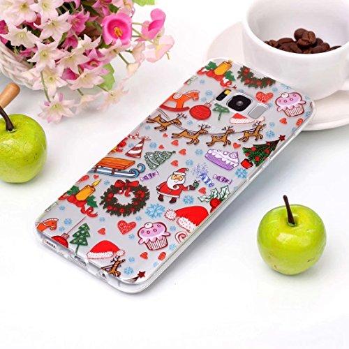 coque iPhone 5/5S/5SE silicone Doux TPU noël séries super léger et mince haute transparence étui pour téléphone case cover DECHYI SD# 14