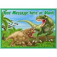 Decoración para tarta A4 personalizable de dinosaurio ND2 (o más pequeña a petición) en
