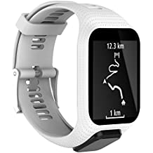 Bracelets de rechange pour montres Tom Tom, Keweni, en silicone - Pour TomTom Runner 3/Spark