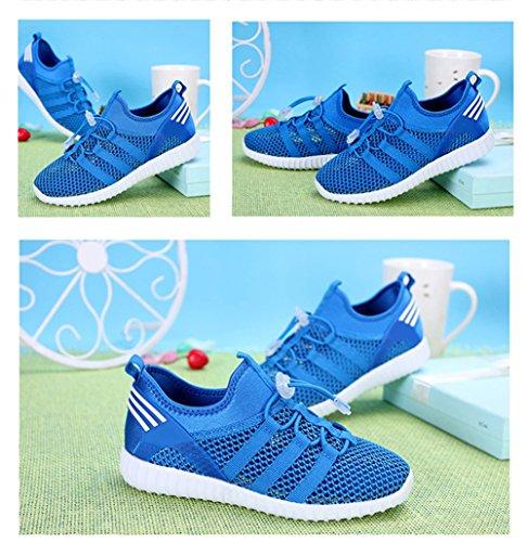 LKOUS Kinder Jungen Mädchen schnüren sich oben Turnschuhe Sportkleidung beiläufige Spinning-Turnschuh Paare Schuhe [6 Farben] Blau 1 rWhT1kZ