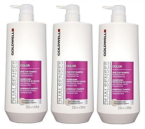 Goldwell Color Shampoo mit Pumpe 3 x 1500 ml Dualsenses Farberhalt FadeStopFormula GW