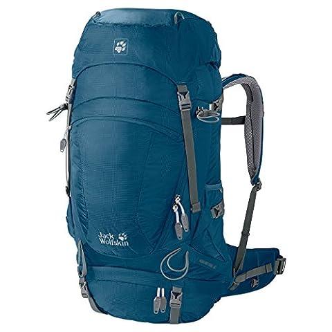 Jack Wolfskin Herren Rucksack Highland Trail, Moroccan Blue, 59 x 35 x 11 cm, 45 Liter,