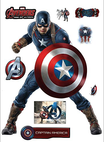 Stickersnews - Stickers Captain america Avengers 30x40cm 15034