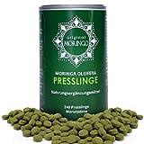Premium Moringa Oleifera Presslinge | 100% handverlesenes Blattpulver komplett ohne Zusatzstoffe | 240 hochdosierte Presslinge für 30 Tage | Optimale Alternative zu Moringa Kapseln