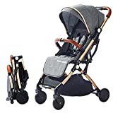 SONARIN Lightweight Stroller,Compact Travel Buggy,One Hand Foldable,Five-Point Harness,Great for Airplane(Dark Grey)