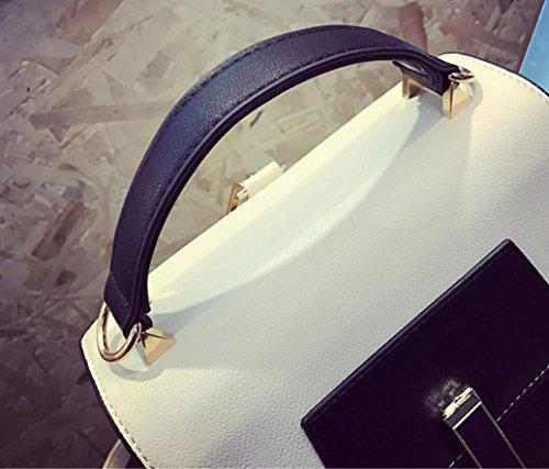 FZHLY Modo Elegante Tipo Benna Con La Serratura Spalla Dell'unità Di Elaborazione Lady Bag,White Pink