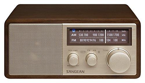 Sangean WR-11BT Bluetooth-Radio (NFC, UKW/MW-Tuner, 10 Watt Full-Range-Hochleistungslautsprecher, AUX-In) Dunkelbraun Full Range