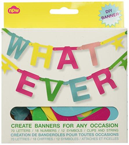 NPW W7541 Persönlich gestaltete Geburtstags-Girlande Party Beliebige-Banner Kit Celebration Nation
