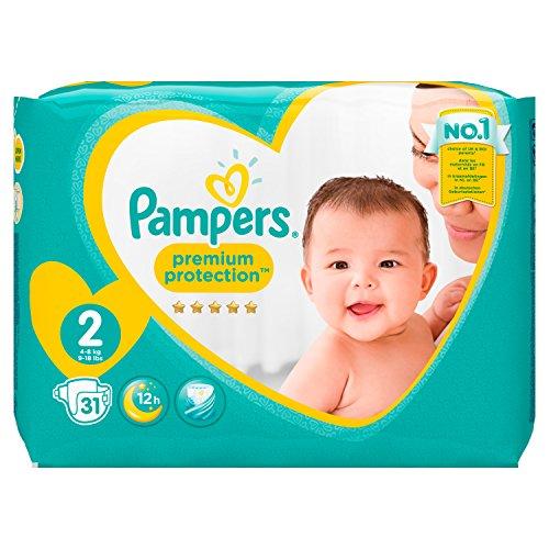 Pampers New Baby Gr.2, 3-6 kg, 31 Windeln, 4er Pack (4 x 31 Stück) - 8
