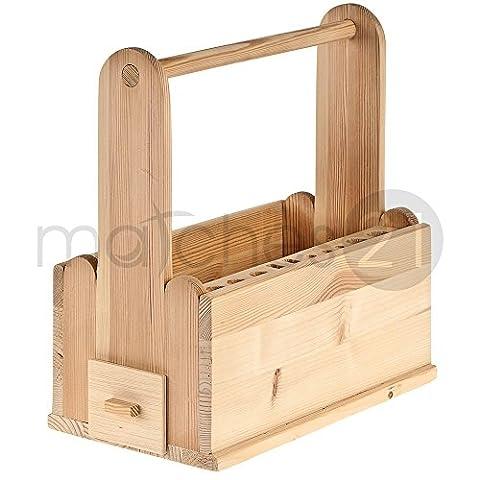 matches21 Werkzeugträger Werkzeugkasten 35x18,5x37 cm Holz Bausatz f. Kinder Werkset Bastelset ab 10 Jahren