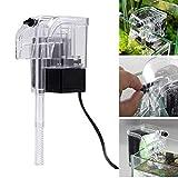 ZLQF Mini Eco Aquariumpumpe Filterpumpe240l/H 5W Mit Filterschwamm Für Aquarien