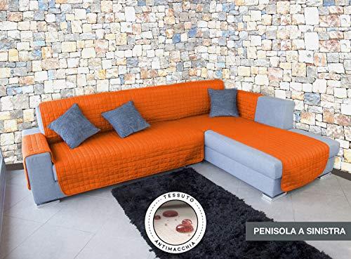 Banzaii Copridivano Trapuntato ANTIMACCHIA con penisola in 13 colorazioni (Arancio, 3P - Penisola Sinistra)
