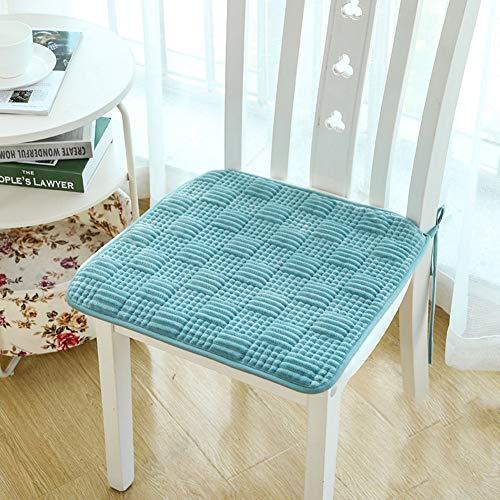 Gesteppte Stuhl-pads (Y&H Gesteppter Baumwolle Stuhl-pad,quadratische Atmungsaktive Seat Dämpfung Nicht-Slip Bodenmatratze Mit Krawatten Gemütlich Bay Window Pad Sofakissen-e 45x45cm(18x18inch))