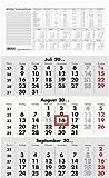 Zettler 956-0000 Wand-,Wandkalender Auslagen-Display und Bastelkalender 3-Monats-Planer schwarz/rot 3M 1S