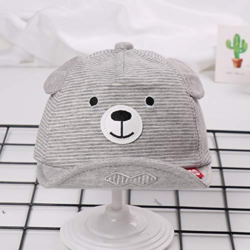 Künstler Kleinkind Kostüm - mlpnko Bär gestreifte Mütze Neue hochwertige weiche Mütze Baby, Kleinkind Mütze grau 42-46cm geeignet