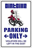 Sticker Pirate Dirt Bike Parking Only Dirtbike Crossbike 20,3 x 30,5 cm Metall Neuheit Schild Aluminium NS 044
