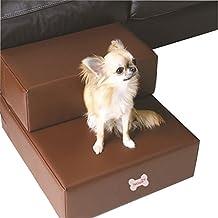 Amazon escaleras perro escalera de piel sinttica para mascotas perros gatos escaleras para perros pequeos fandeluxe Images