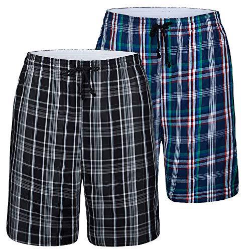 JINSHI Men's 2-Pack Pyjama Short...