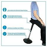 Ergotopia® Ergonomischer Bürohocker | Höhenverstellbarer Sitzhocker mit integriertem Bewegungsfeedback für dynamisches & gesundes Sitzen | Drehhocker gegen Rückenschmerzen & Verspannungen - 2