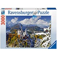 Ravensburger - Puzzles 3000 piezas, diseño Castillo de Neuschwanstein en invierno (17062 3)