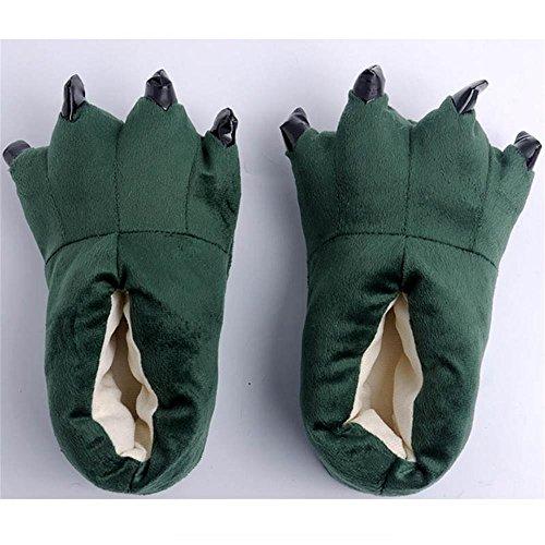Paws Cartoon Baumwolle Hausschuhe,Paw Claw Schuhe,Warme Pfote-Greifer-Schuhe,Paw Claw Shoes,Claw Shoes,Klaue Schuhe,Creative Hausschuhe Grun