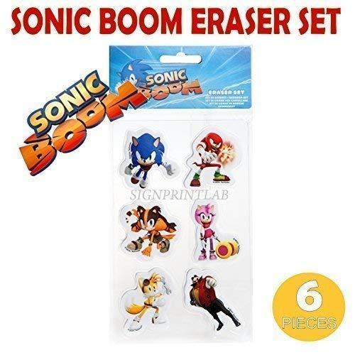 Sonic Boom Schwamm Set 6 Stk Schulanfang Geschenk Party Geschenke Beutel Füller (Sonic Geschenke)