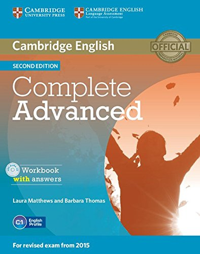 Cambridge English complete advanced 2ed workbook with answers. With CD