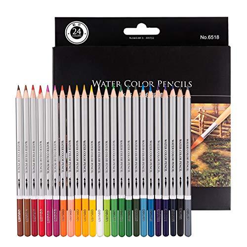 Morcoo 24 Farben Aquarellstifte Erwachsene Aquarell Buntstifte für Zeichnung Malbücher Bleistifte für Skizzieren oder Farbe, Buntstifte Ein perfektes Geschenk für Kinder Zeichnen (24 verschiedene Farben Stifte ein Set)