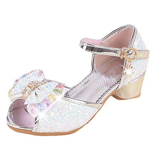 YYF Petite Fille Belle Sandale Chaussure de Princesse Talon Confortable a Poter Bien pour Robe