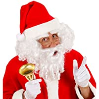NET TOYS Barba bianca capelli baffi sintetici Babbo Natale parrucca Santa  Claus accessori natalizi a7ae4be00ae4