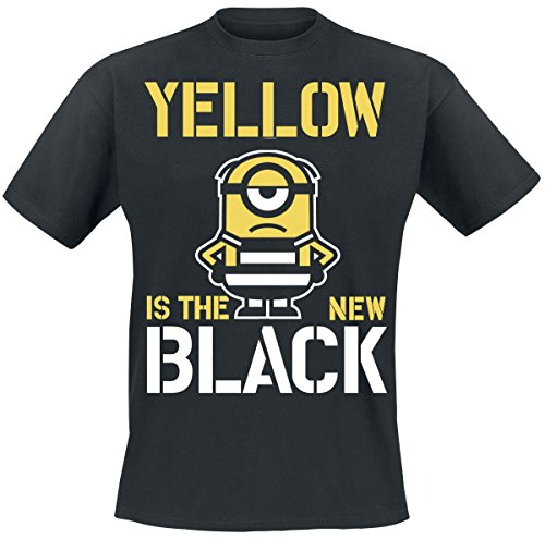 MINIONS Yellow is The New Black T-Shirt Schwarz Schwarz