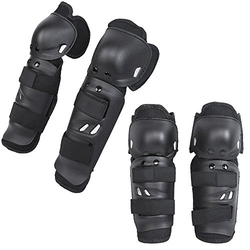 KT Supply - Gomitiere e ginocchiere da adulto, kit di protezione ginocchia e gomiti, attrezzatura professionale da uomo e donna, per moto cross, bici, MTB
