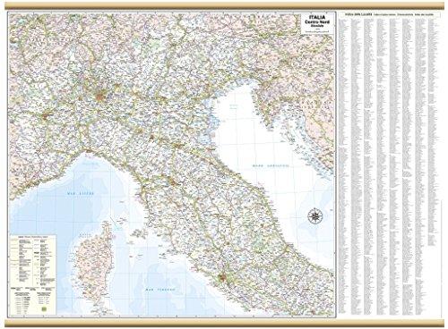 Italia Centro Nord Stradale Carta Murale [119x88 cm] Belletti