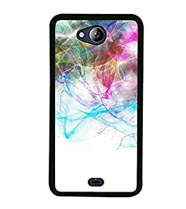 Fiobs High Glossy Designer Phone Back Case Cover Micromax Canvas Play Q355 ( Colorful Pattern Design )