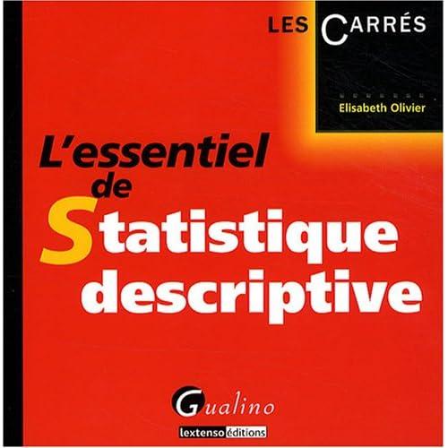 L'essentiel de Statistique descriptive