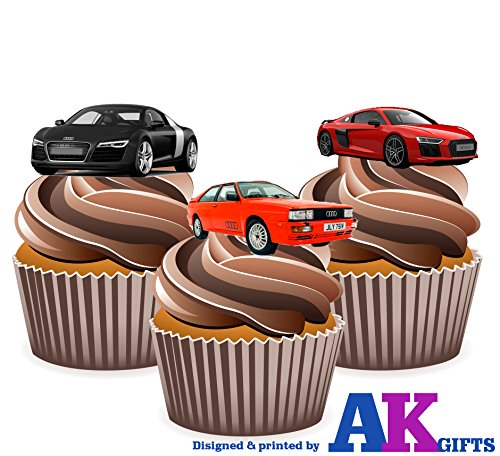 audi-car-mix-cake-decorations-12-edible-wafer-cup-cake-toppers