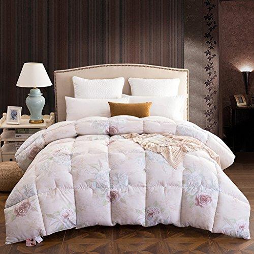 Vier Jahreszeiten warm Daunendecken Doppelzimmer hypoallergen Bettwäsche 3 kg Kinderbettausstattung (Color : Pink, Size : 180 * 220cm)