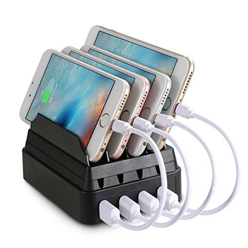 Stazione di Ricarica, MaxTronic 4-Porto USB Multi-dispositivo Charging Docks Caricatore