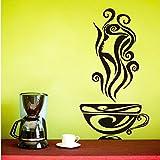 Sticker mural Délicieux Café Chaud Autocollants Tasses À Café Tasses À Café Diy...