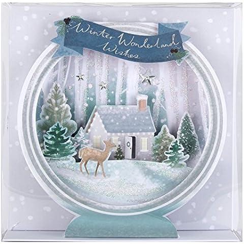 Hallmark–Tarjeta de Navidad en 3d de lujo pack de tarjetas