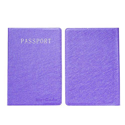 CSTOM Funda Cartera para Pasaporte - Pieza 2, Morado