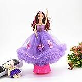 Sun Hero Mädchen Spielzeug Hochzeit Kleid Puppe Braut rotierenden Spieluhr für Hochzeitsdekoration...