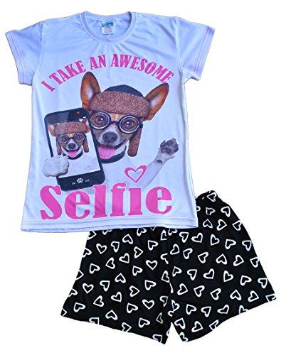 Girl's Short Pyjamas Awesome Selfie Pj 9 to 16 Years