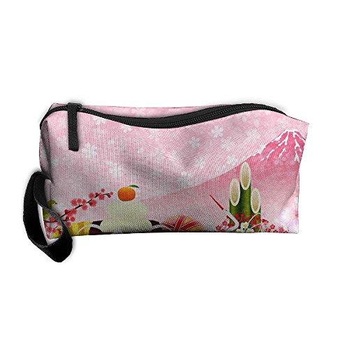 Fan giapponese sushi gru in tessuto oxford portatile ragazza donne travel storage bags fashion printing ricezione bag portafogli portamonete con cerniera cancelleria kit trucco borse multifunzione borsa