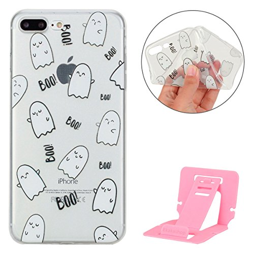 Apple iPhone 7 Plus Hülle,iPhone 7 Plus Transparent Crystal Klar Case,Ekakashop Ultra Dünn Slim Modisch Durchsichtig Ananas Muster Weiche Silikon TPU Flexible Gel Case Crystal Defender Protective Schu BOO