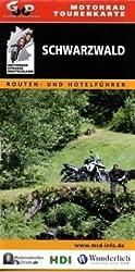 Motorrad-Tourenkarte Schwarzwald-Nord - Routen- und Hotelführer