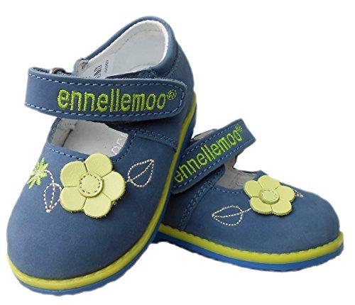 ennellemoo®  Made in EU , Ballerines / Chaussons bébé fille Bleu/jaune