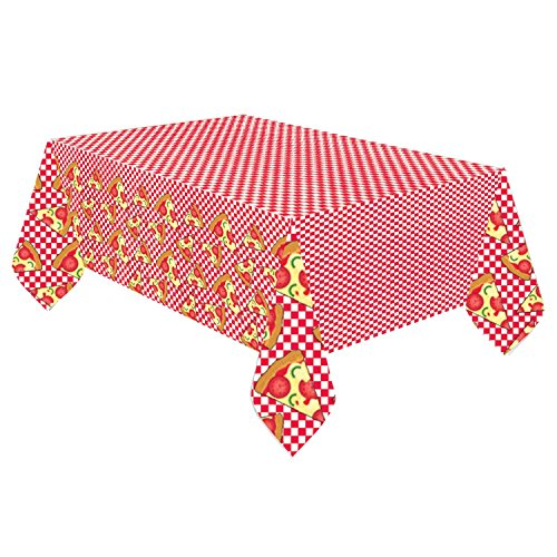 Fancy Dress VIP 1.37m x 2.6m Italian Pizza Party Fast Food Restaurant Paper Tablecover Cloth Birthday Party Decoration