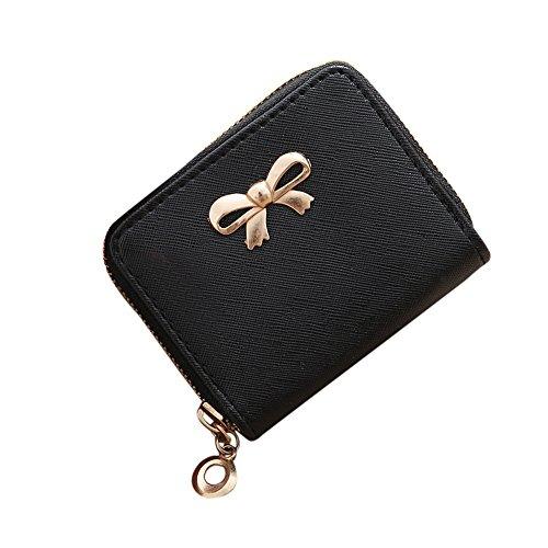 LEvifun Women Cute Coin Purse Bowknot Mini Handbag Pouch Money Wallet Mini Bag Retro Vintage Credit Card Holder Key Ring Change Purse for Women Teen Girl