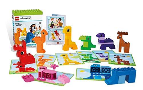o 'NEU' 5009 / 49 Elemente für 1 - 6 Spieler von 2 - 5 Jahren! Set mit: 8 doppelseitigen Baukarten mit 16 Tiermodellen (Tier-bingo)